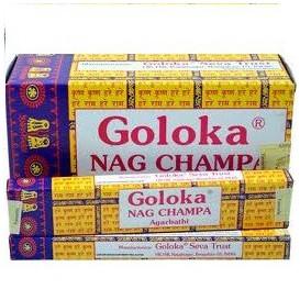 12 x incenso GOLOKA Nag Champa 15 g (ou seja, 180 g)