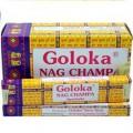 12 x Encens GOLOKA Nag Champa 15g