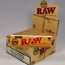 24 paquets Raw Slim + Filtres carton Tips (1 boite)