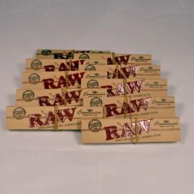 10 confezioni di lunghe foglie Rolling Raw + Suggerimenti