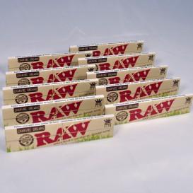10 confezioni di lunghe foglie Rolling Raw Organic