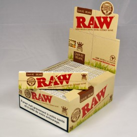 50 paquets feuilles Raw Organic Slim