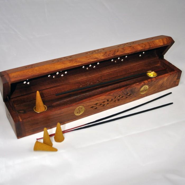 Scatola di incenso in legno bruciatore di incenso - Porte a basso costo ...