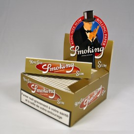 50 Pakete Smoking Gold Slim (1 Kasten)