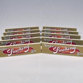 10 pacchetti Smoking Gold Slim