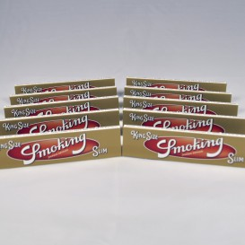 10 paquets feuilles Smoking Gold Slim