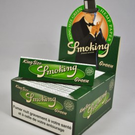 50 paquets feuilles Smoking Green chanvre