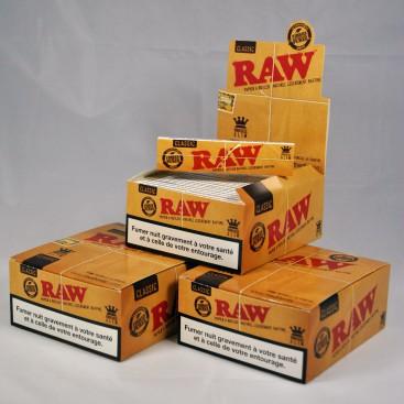 Filtre RAW lot de 20 sachets de 200 Filtres RAW SLIM 6 MM non blanchi