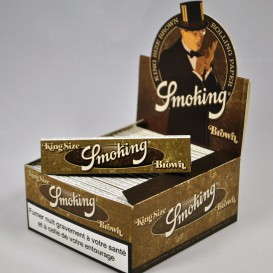 50 paquets Smoking Brown Slim (1 boite)