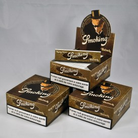 150 paquets feuilles Smoking Brown Slim (3 boites)