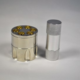 Grinder barrel polinator and pollen press