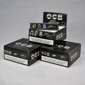 50 pakketten van bladrol OCB Slim Premium