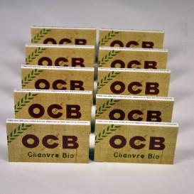 10 πακέτα αφήνει OCB κάνναβης τακτικών Bio (μμ)