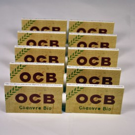 10 pakken van bladrol OCB HENNEP BIO