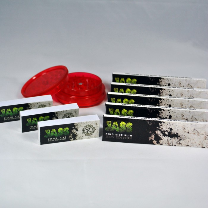 Regalo per fumatore smerigliatrice rotolo di carta e filtri for Case di livello tri