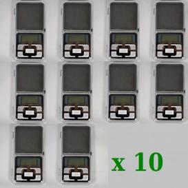 10 x Balance de poche 0,01/200g MH Série