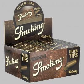 50 pacotes de filtro marrom fumar
