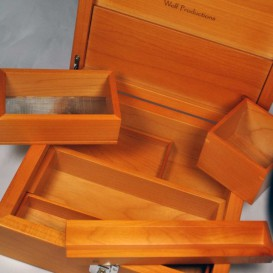 Wooden box cherry deluxe box Wolf Spliff