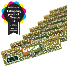 10 Paquets feuilles Greengo Slim non blanchi