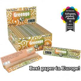 50 Paquets feuilles Greengo Slim non blanchi