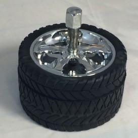 Ashtray push tire