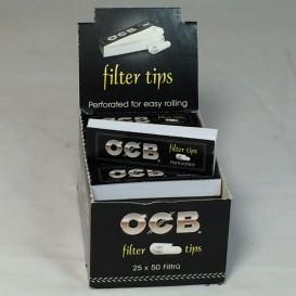 25 embalagens de 50 filtros de cartão OCB