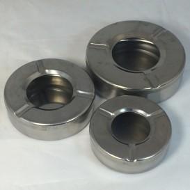 Cinzeiro redondo de metal