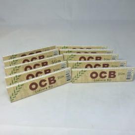 10 pacotes de cânhamo orgânico OCB Slim