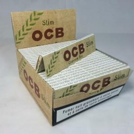 50 pacotes de cânhamo orgânico OCB Slim