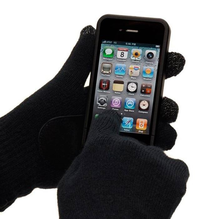 Pairs of gloves for touchscreen