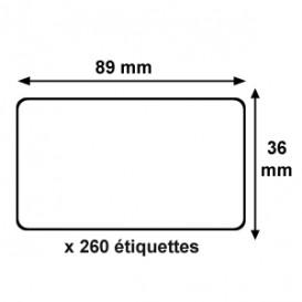 Rotolo etichette Dymo 89x36mm