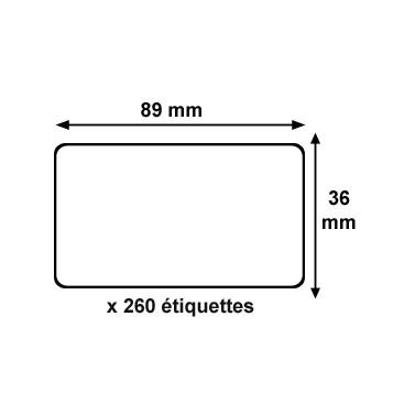 Rouleau etiquettes dymo 89x36mm spi discount for Bureau rouleau