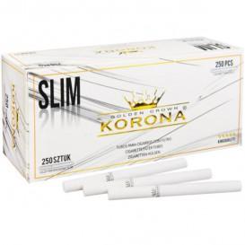 250 tubos Slim branco Korona