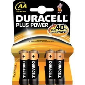 4 Duracell Simply AA LR06 batteries