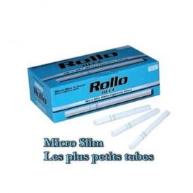 200 Tubes Micro Slim Rollo (Bleu)