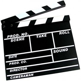 Clap Cinema 30cm x 26cm (XL)