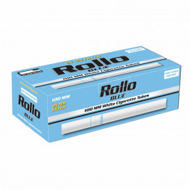 200 Tubos Cigarillos 100mm Rollo Blue