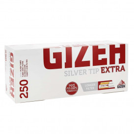 250 Tubes Gizeh Silver Tips Extra