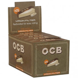 25 Packages OCB Virgin Tips