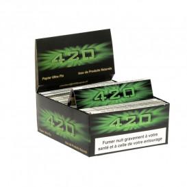 50 Paquets Feuilles 420 Slim