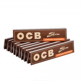 10 paquets feuilles OCB Brown Slim