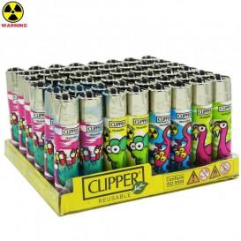 Boite 48 Briquets Clipper Radioactif Animals